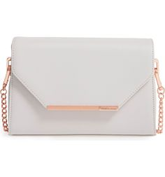 Main Image - Ted Baker London Faux Leather Crossbody Bag