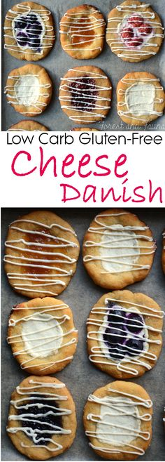 Low Carb Cheese Danish - Nut-Free made with Goat Cheese (as little as 3 net carbs per danish!)
