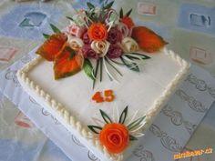slaný dort Sandwich Torte, Cake Roll Recipes, Sandwiches, Party Platters, Square Cakes, Christmas Appetizers, Food Decoration, Wedding Cake Designs, Edible Art