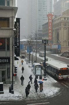 winter, State & Randolph Streets, Chicago, IL.  Photo: Joon Han, via Flickr