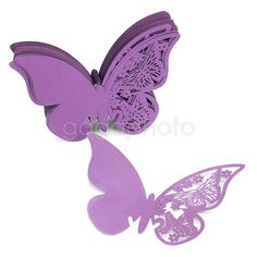 50x Table Name Place Card Wine Glass Decoration Purple Butterfly Wedding Favor in Home & Garden, Wedding Supplies, Invitations & Stationery | eBay