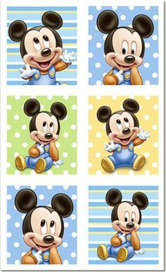 Mickey Mouse 1st Birthday Stickers 4pk