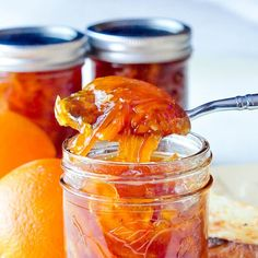 Orange Marmalade. Who knew making marmalade was this easy? This version adds a little natural vanilla flavour in what might me the best marmalade you'll ever try.