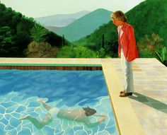 David Hockney: Portrait of an Artist (Pool with two figures), 1972. acrylic on canvas, 84x120 in.