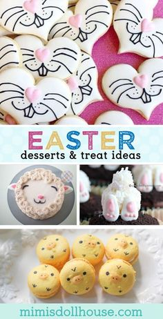 Easter: Easter Desserts and Easy Easter Treat Ideas. The best part of Easter celebrations? The delicious Easter Treats of course. Keep reading.I have some super cute and yummy Easter dessert ideas to share. Be sure to check out all our Easter Party Id Easy Easter Desserts, Easter Snacks, Easter Treats, Easter Recipes, Desserts Diy, Easter Food, Delicious Desserts, Easter Deserts, Easter Stuff