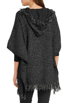 MICHAEL Michael KorsFringed knitted hooded poncho