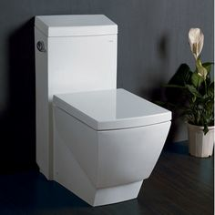 The square bowl and square tank give the Fresca Bath Apus Toilet a strikingly modern look that will elevate your bathroom décor in a bold new. Bathroom Toilets, Bathroom Fixtures, Bathroom Showers, Kid Bathrooms, Bathroom Hardware, Bathroom Sinks, Bathroom Storage, Master Bathroom, Contemporary Toilets