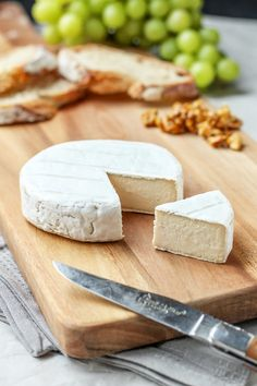 Vegan Aged Camembert Cheese with a rind!