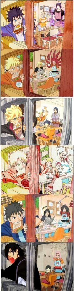 Haha Uzumaki VS Uchiha Family Morning ❤️❤️❤️