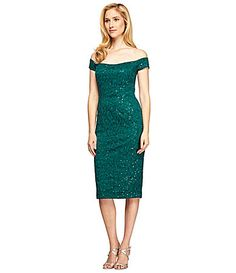 Alex Evenings OffTheShoulder Lace Sheath Dress #Dillards