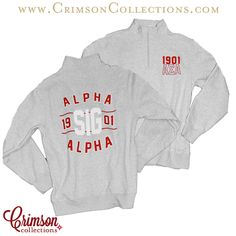 Alpha Sigma Alpha gray classic quarter zip!! Perfect for the fall and winter!! Only available at Crimson Collections!