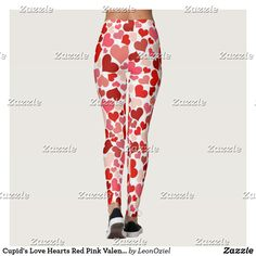 Shop Cupid's Love Hearts Red Pink Valentine Leggings created by LeonOziel. Red And Pink, Pink White, Cupid Love, Valentines Leggings, White Leggings, Leggings Fashion, Look Cool, Love Heart, Dressmaking