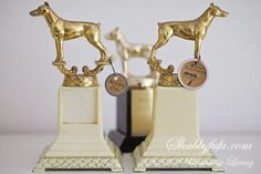 Just listed for sale in the shop! Fabulous Vintage Dog Show Trophies '50's