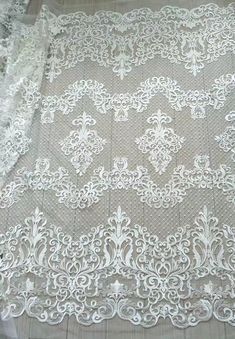 Bridal Lace Fabric, Wedding Fabric, Wedding Lace, Wedding Veil, Vintage Embroidery, Embroidery Designs, Lace Weddings, Wedding Dresses, Haute Couture Dresses