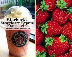 Starbucks Strawberry Express Frappuccino! #StarbucksSecretMenu Tasty strawberry with a caffeine kick! Recipe here: http://starbuckssecretmenu.net/starbucks-secret-menu-strawberry-express/
