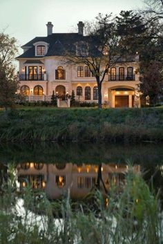 It's bigger than I could ever have or justify, but this house is gorgeous.  View of the pond