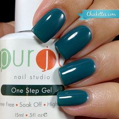 """Purjoi Nail Studio One Step Gel Polish. Color used is called """"Till Next Time"""".  Application done by @chickettes   #purjoi #onestepgelpolish #gelpolishlovers #purjoinailart #purjoinailstudiogels #nailartgallery #gelpolishswatch #gelpolishpromote #nails #nailpolish"""