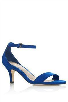 Blue Anklestrap Sandal