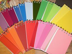Paint Chip Note Pads