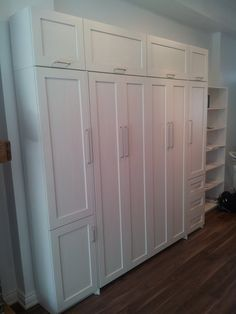 BOFF wall beds -- Antique white shaker bed and storage unit