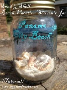 Beach Vacation Souvenir Jar. Wish i saw this before going to Bermuda