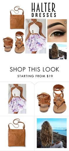 """""""Untitled #61"""" by ektreese ❤ liked on Polyvore featuring Breckelle's, Merona and halterdresses"""