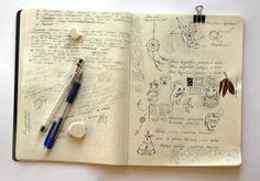 my moleskine by Anna Rusakova, via Behance Moleskine Sketchbook, Artist Sketchbook, Sketchbook Pages, Sketchbooks, Moleskine Diary, Fashion Sketchbook, Artist Journal, Art Journal Pages, Art Journals
