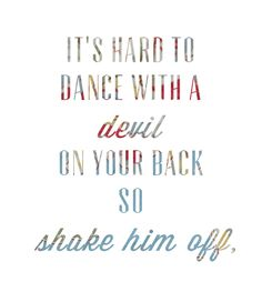 shake it out, shake it out