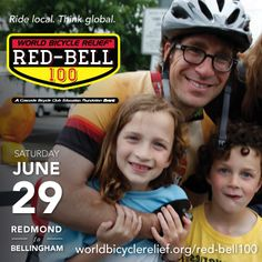 Ride local. Think global. Come ride the World Bicycle Relief Red-Bell 100 this June, when your pedal power will make a difference the world over. http://www.worldbicyclerelief.org/red-bell100