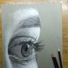 Amazing use of Black and White on Toned paper.