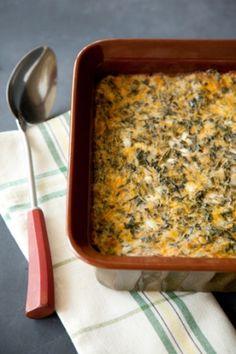Crustless Spinach Quiche by Paula Deen - substitute greek yogurt instead of sour cream