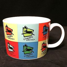 Caribou Coffee Logo Multi Color Block Patchwork Rainbow Design 13 oz Mug Cup in Collectibles, Advertising, Merchandise & Memorabilia, Mugs & Cups Caribou Coffee, Coffee Logo, Mug Cup, Rainbow, Mugs, Tableware, Ebay, Color, Design