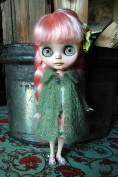 Blythe Doll Knitted Mohair and Silk Blend Lacy by AuntieShrews