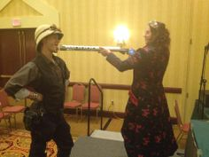 Girls with guns.  I love the steampunk ladies!