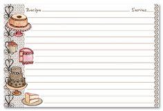 Recipe Stationery | Desert Recipe Cards Stationery, 13976