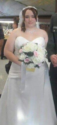 sincerity bridal wedding dress size 22