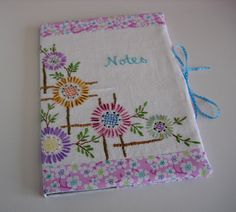 HenHouse Emporium: Vintage Embroidered Notebook Covers