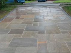 Raij Green Indian Sandstone UK Home Improvements | Block paving| Tarmac Driveways