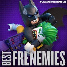 BFFs for life (Best Fighting Frenemies). #LEGO #Batman #LEGOBatman #LEGOBatmanMovie #DCComics #SuperHeroes #EverythingIsAwesome #MashupMadness #CombineYourLEGO #UpgradeYourLEGO #BuildSomethingSuper #BuildSomethingBatman #AwesomeAwaits