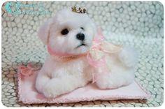 Bichon Frise Puppy/Puppy/ Bichon frise ornament /Bichon
