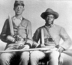 *BLACK CONFEDERATES: Lt. Andrew chandler, 44th Mississippi, + Silas Chandler, his companion + former slave.
