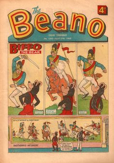 The Beano comic from DC Thompson. This shows the difference between the origional style comic books and the modern versions. the colours aren't as bright and the images are a lot more innocent.