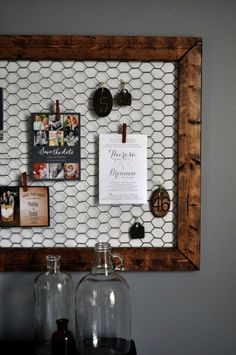 Best DIY Ideas With Chicken Wire - DIY Office Memo Board - Rustic Farmhouse Decor Tutorials With Chickenwire and Easy Vintage Shabby Chic Home Decor for Kitchen Living Room and Bathroom - Creative Country Crafts Furniture Patio Decor and Rustic Wall Art and Accessories to Make and Sell diyjoy.com/... #artsandcraftshouse #shabbychichomesdiy #vintagefarmhousedecor