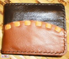Handmade  brown / tan leather man's wallet by g2p by G2Pleather, $24.99