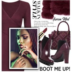 Kick It:Chelsea Boots-Plum by samketina on Polyvore featuring мода, Charles David, MICHAEL Michael Kors and chelseaboots