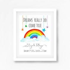 Rainbow Nursery Art Print Gender Neutral by PerfectLittlePrints
