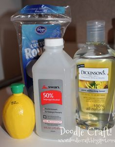 Homemade Facial Toner, Pore reducer and Brightener! 1/4 cup lemon juice, 1/3 c. Witch hazel, 2 tblsp rubbing alcohol, 1/2 c. Water...pour on cotton ball or pad. Apply in circular motions.. morning & night.. will have to try