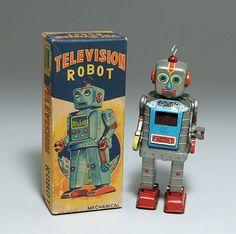 三恵玩具/日本製 TELEVISION ROBOT