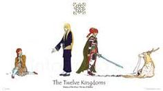 The Twelve Kingdoms- Youko and Keiki at the beginning and end.