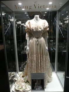 """Queen Victoria Dress #2 - Costume Exhibition from """"The Young Victoria"""" film"""